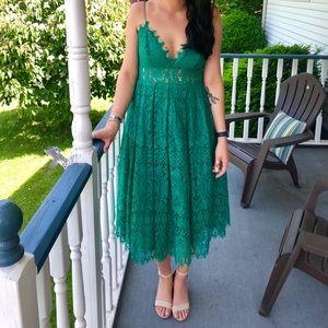 ASOS Lace Cami Midi Prom Dress